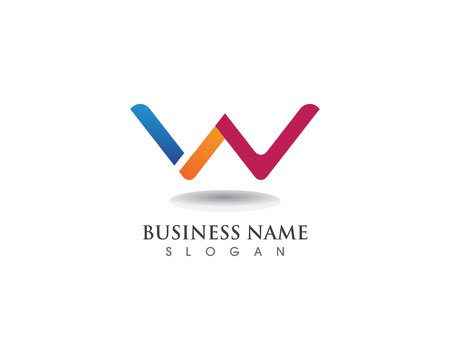 W letters business logo and symbols template Ilustrace