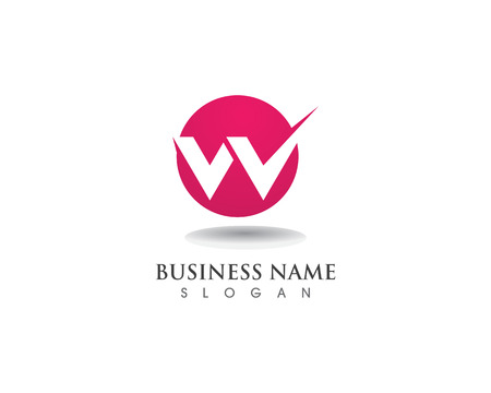 W letters business logo and symbols template 向量圖像