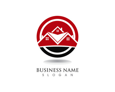 home buildings logo and symbols icons template Illustration