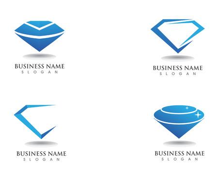 Diamantlogo und Symbolvektorschablonensymbol