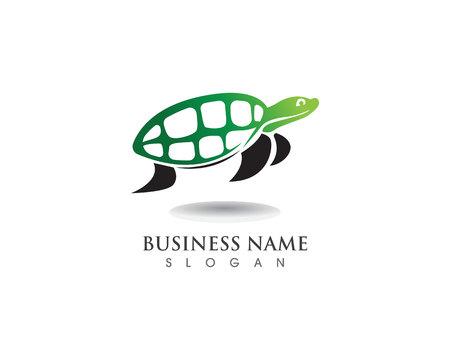 Diseño de ilustración de vector de imagen de icono de dibujos animados de animales de tortuga