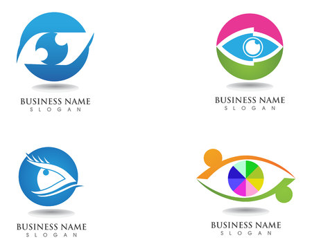 Eyes care health logo and symbols Stock Illustratie