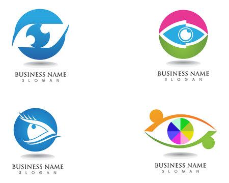 Eyes care health logo and symbols Illustration