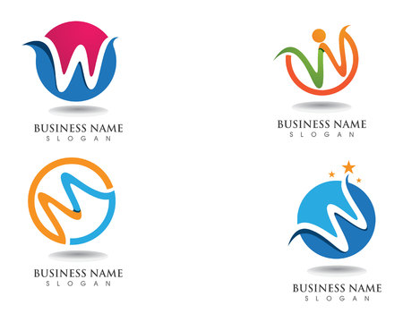 W logo business logo and symbols template