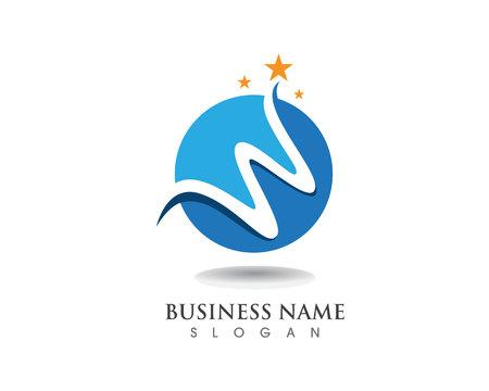 W logo business logo and symbols template