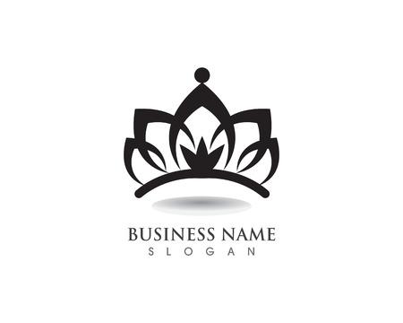 Corona Logo Template illustrazione vettoriale Logo