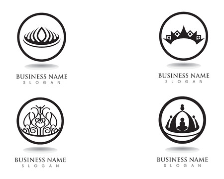 Crown Logo Template vector illustration