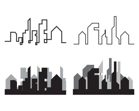 Modern City skyline  city silhouette  vector illustration in flat design