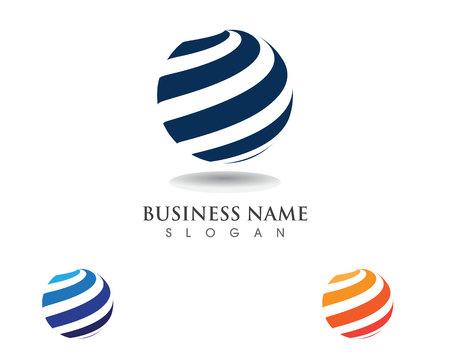 Global technology logo communication Illustration