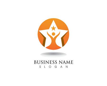 Star success logo and symbol vector template