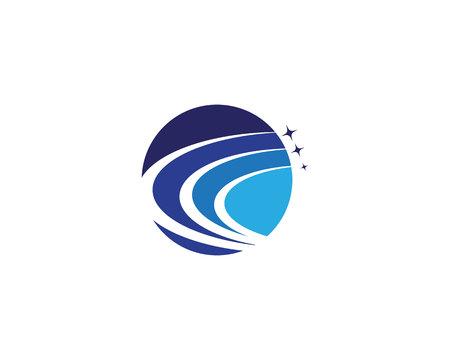 Vettore del modello logo più veloce