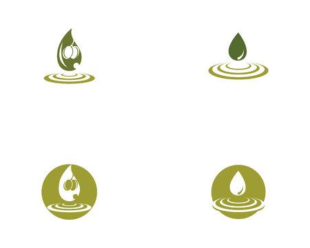olive logo template 矢量图像