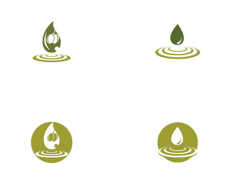 olive logo template Illustration