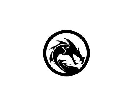 dragon  logo template vector illustration