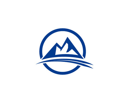 Mountain logo and symbol vector illustration