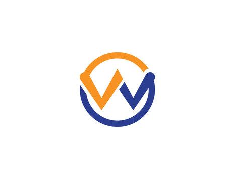 W logo and vector illustration Ilustracja