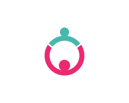adopción y atención comunitaria logo icono de la plantilla vector