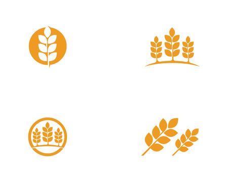 Logo de blé de l'agriculture