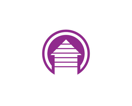 home buildings logo and symbols icons template  イラスト・ベクター素材