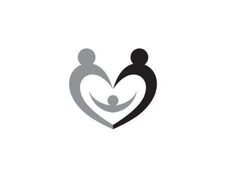 Adoption and community care Logo template vector icon Logo