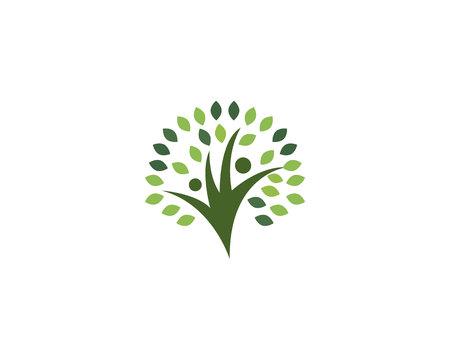Family tree people logo