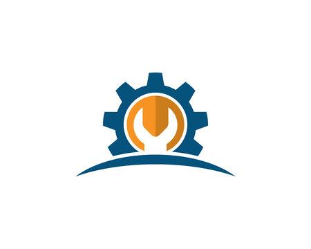 Repair gear logo and symbol