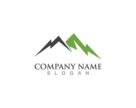 Mountain logo vector template