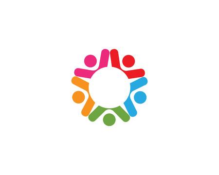 Community logo vector people  イラスト・ベクター素材