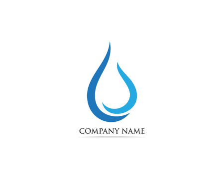 Waterdrop logo vector illustration Illustration
