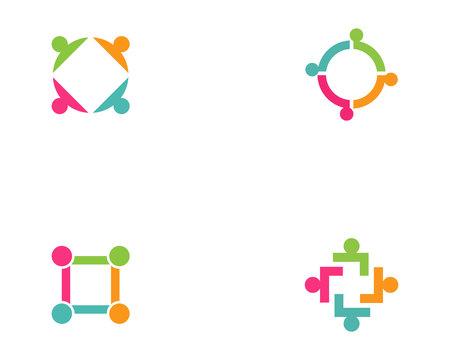 Community people group logo Zdjęcie Seryjne - 109697445