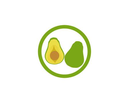 avocado vector template logo and symbol