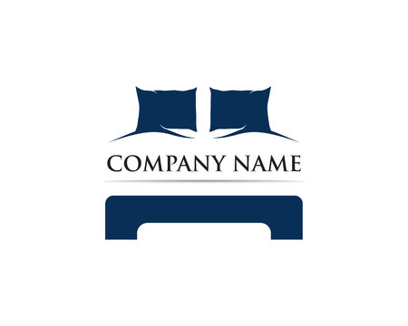 Bed logo vector template Stock Illustratie