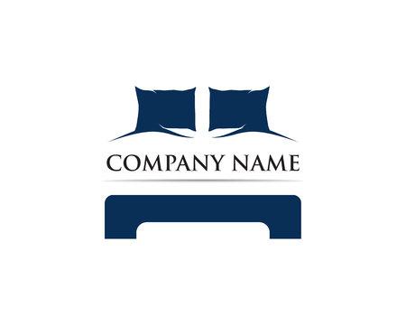 Szablon wektor logo łóżka