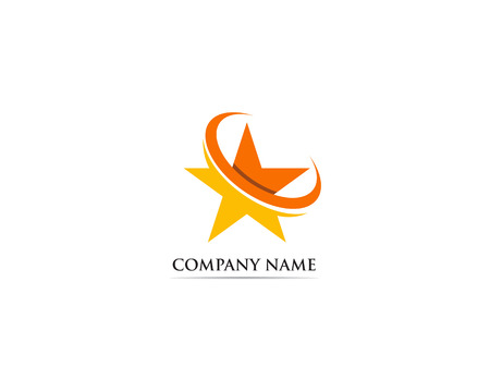 Star logo vector template success symbol