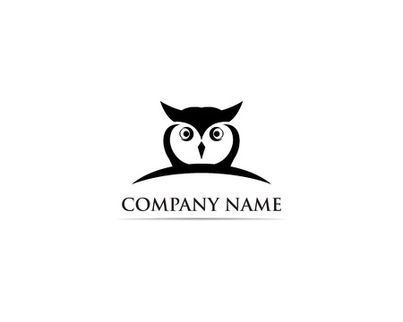 Owl logo bird vector Illustration
