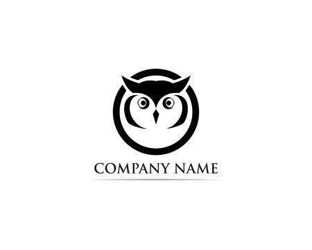 Owl logo bird vector Stock Vector - 110670318