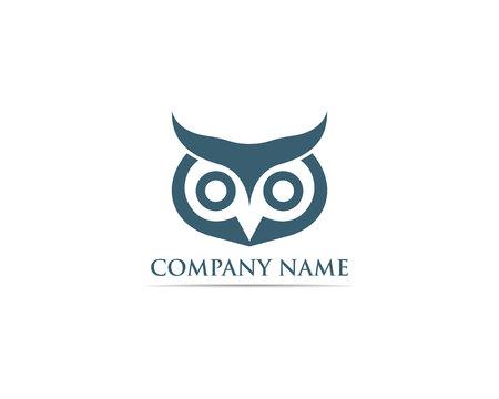 Owl logo bird vector Stock Vector - 110670320