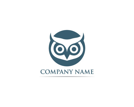 Hibou logo oiseau vecteur