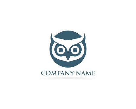 Owl logo bird vector