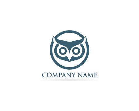Owl logo bird vector Stock Vector - 110670324