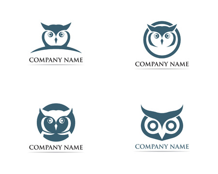Owl logo bird vector Stock Vector - 110670326