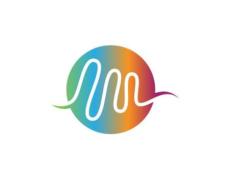 sound wave ilustration logo vector icon template Logo