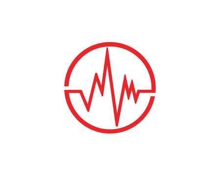 sound wave ilustration logo vector icon template Vectores