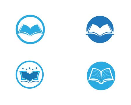 Conception d'illustration vectorielle de modèle de logo de livre d'éducation