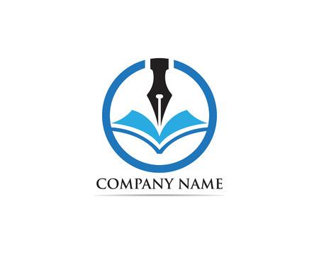 Writer pen Logo template Vector illustration