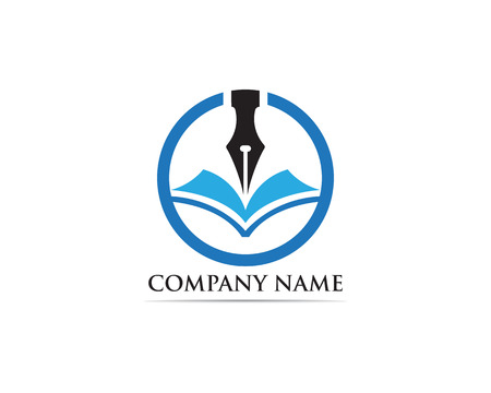 Writer pen Logo template Vector illustration