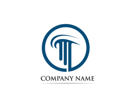column Logo Template vector Illustration