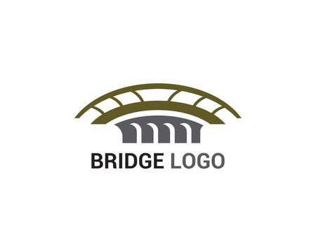 Bridge logo and symbol vector template