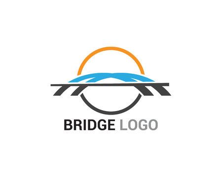 Logo de pont et modèle vectoriel de symbole Logo