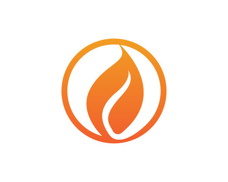 Fire flame simple icon Иллюстрация